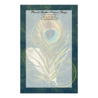 Artful Detail Peacock Feather Stationery