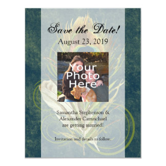 Artful Detail Peacock Wedding Save the Date Card