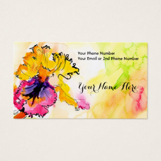 Artful Floral Bearded Iris Business Card