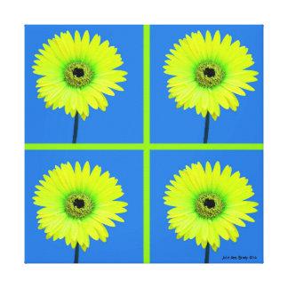 Artful Gerbera Daisy Mosaic Gallery Wrap Canvas