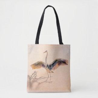 Artful Great Blue Heron Tote Bag