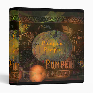 Artful Pumpkins Thanksgiving 3 Ring Binder