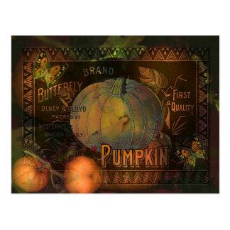 Artful Pumpkins Thanksgiving Postcard