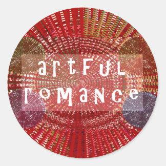 Artful Romance - Deserves a Chance Round Stickers