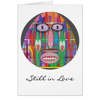 Artfulromance - aún en amor tarjeta de felicitación