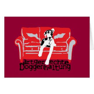 Artgerechte Doggenhaltung Tarjeta De Felicitación