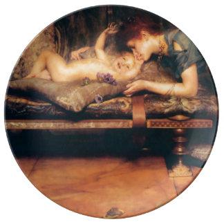 arthly paraíso de sir Lawrence Alma-Tadema Plato De Cerámica