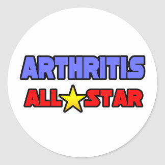 Arthritis All Star Classic Round Sticker