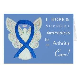 Arthritis Awareness Blue Ribbon Greeting Card