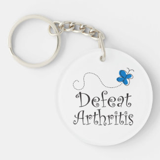 Arthritis Awareness Butterfly Slogan Key Chain