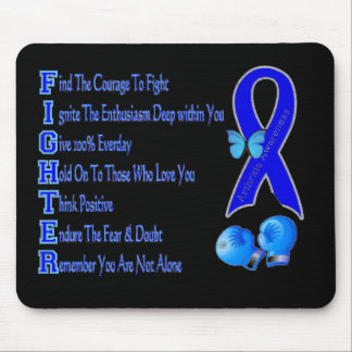 Arthritis Awareness Fighter Ribbon Mouse Pad