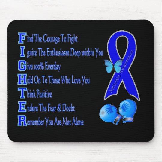 Arthritis Awareness Fighter Ribbon Mouse Pad