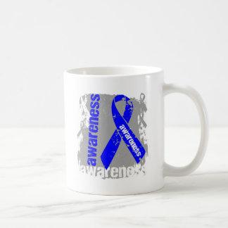 Arthritis Awareness Grunge Ribbon Classic White Coffee Mug