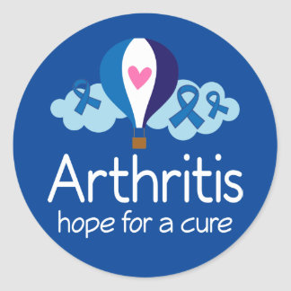 Arthritis Awareness Hope Cure Ribbon Stickers