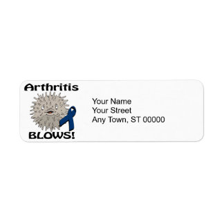 Arthritis Blows Awareness Design Return Address Label