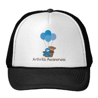 Arthritis Blue Ribbon Support Bear Trucker Hat