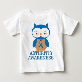 Arthritis Blue Ribbon Support Owl Baby T-Shirt