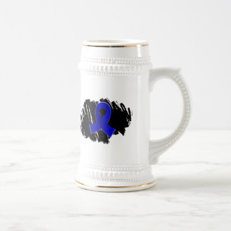 Arthritis Blue Ribbon With Scribble 18 Oz Beer Stein