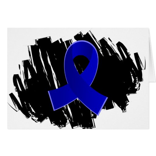 Arthritis Blue Ribbon With Scribble Greeting Card