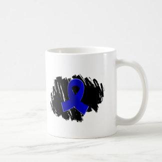 Arthritis Blue Ribbon With Scribble Classic White Coffee Mug