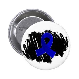Arthritis Blue Ribbon With Scribble Pinback Button