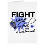 Arthritis Fight Like A Girl 11.3 Greeting Card