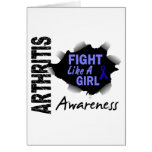 Arthritis Fight Like A Girl 14.3 Greeting Card