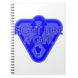 Arthritis Fight Like A Girl Glove Spiral Notebooks
