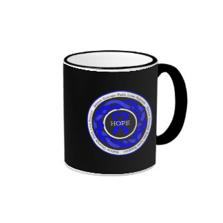 Arthritis Hope Intertwined Ribbon Ringer Coffee Mug