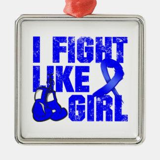 Arthritis I Fight Like a Girl (Grunge) Square Metal Christmas Ornament