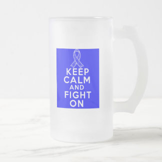 Arthritis Keep Calm and Fight On 16 Oz Frosted Glass Beer Mug