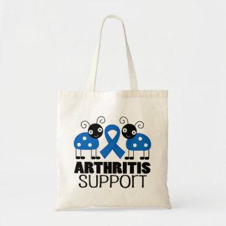 Arthritis Ladybug Support Ribbon Awareness Bag