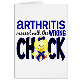 Arthritis Messed With The Wrong Chick Greeting Card
