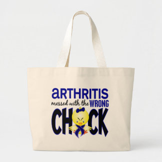 Arthritis Messed With The Wrong Chick Large Tote Bag