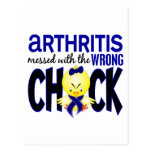 Arthritis Messed With The Wrong Chick Postcards