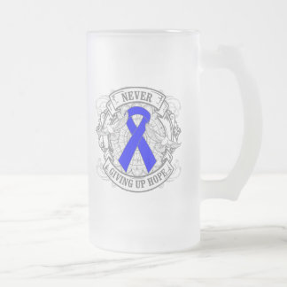 Arthritis Never Giving Up Hope 16 Oz Frosted Glass Beer Mug