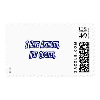 Arthritis...Not Cooties Stamp