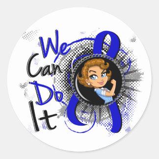Arthritis Rosie Cartoon WCDI Classic Round Sticker