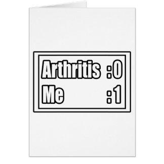 Arthritis Scoreboard Card