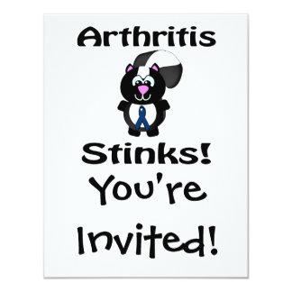 "Arthritis Stinks Skunk Awareness Design 4.25"" X 5.5"" Invitation Card"