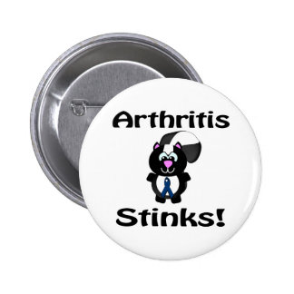 Arthritis Stinks Skunk Awareness Design Pinback Button