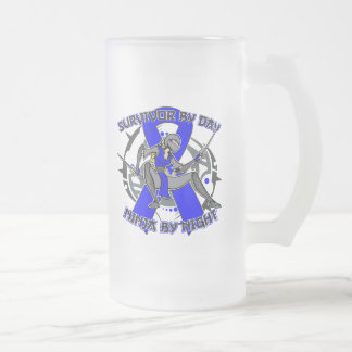 Arthritis Survivor By Day Ninja By Night 16 Oz Frosted Glass Beer Mug