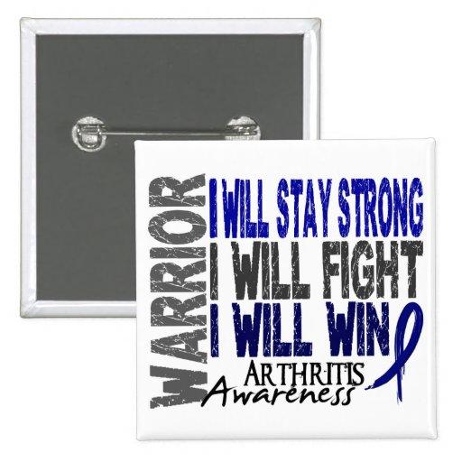 Arthritis Warrior 2 Inch Square Button