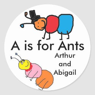 Arthur and Abigail Ant Stickers