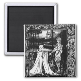 Arthur and the strange mantle 2 inch square magnet