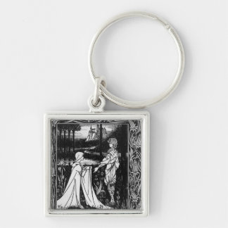Arthur and the strange mantle Silver-Colored square keychain