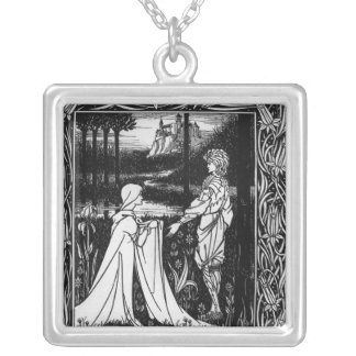 Arthur and the strange mantle silver plated necklace