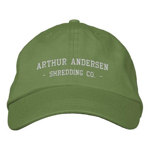 Arthur Andersen, - destrozando el Co. - Gorra Bordada