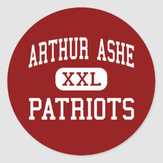 Arthur Ashe - Patriots - Middle - Fort Lauderdale Classic Round Sticker