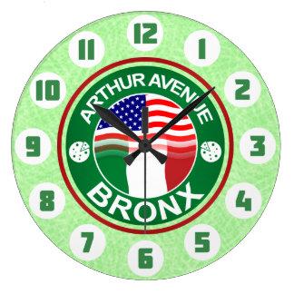 Arthur Ave Bronx Italian American Large Clock